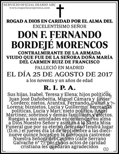 F. Fernando Bordejé Morencos